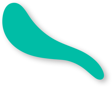 Wavy Random Shaped Object Teal Colour