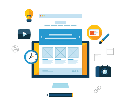 Components Required to Build a Website Illustration