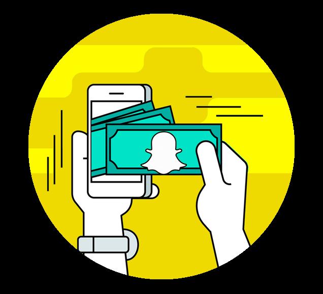 Taking Money Online Using Mobile App Illustration