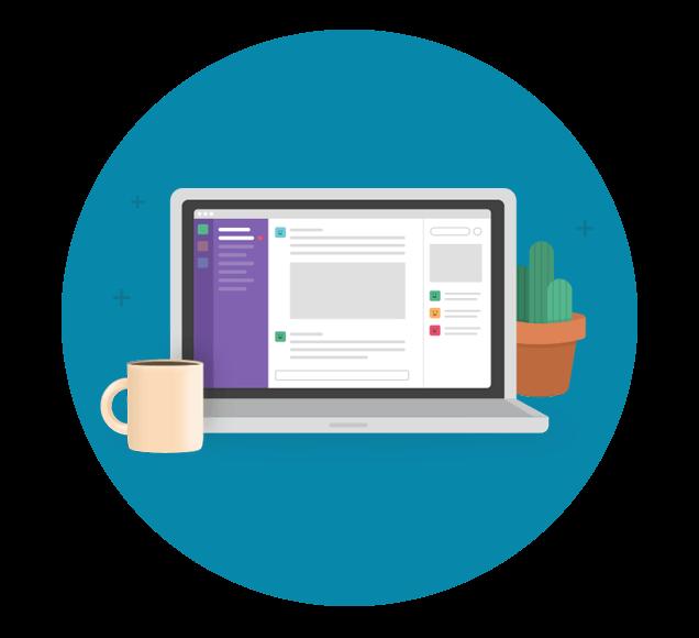 Project Workflow Management With Slack - Illustration