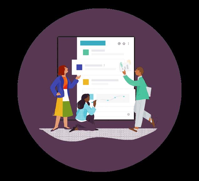 Project Teamwork with Slack - Illustration