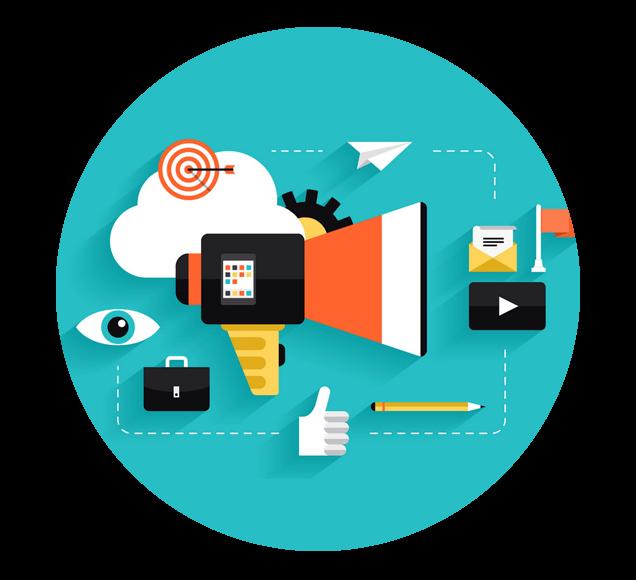 Internet Audience Engagement Icons Illustration