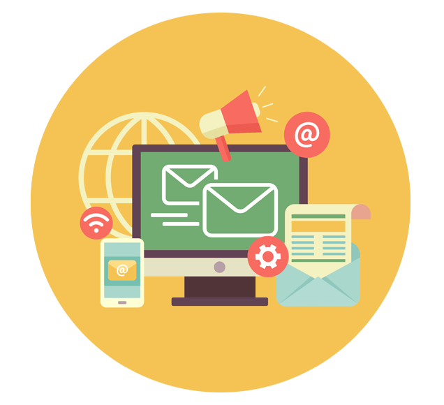 Automated Email Delivery to Multiple Devices Illustration