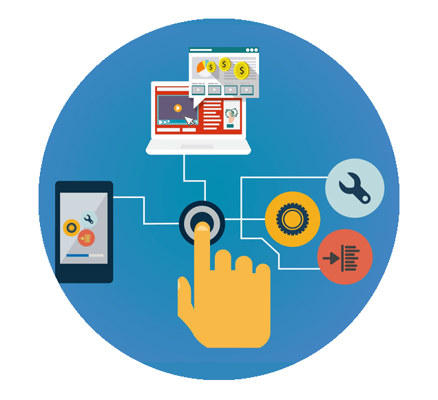 Developer Tools Used to Create an Email Marketing Campaign Illustration