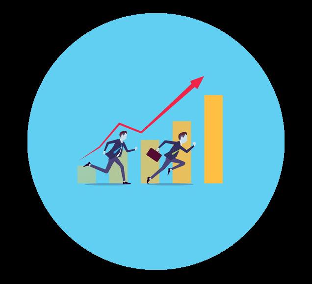 Increating Sales Graphic Illustration