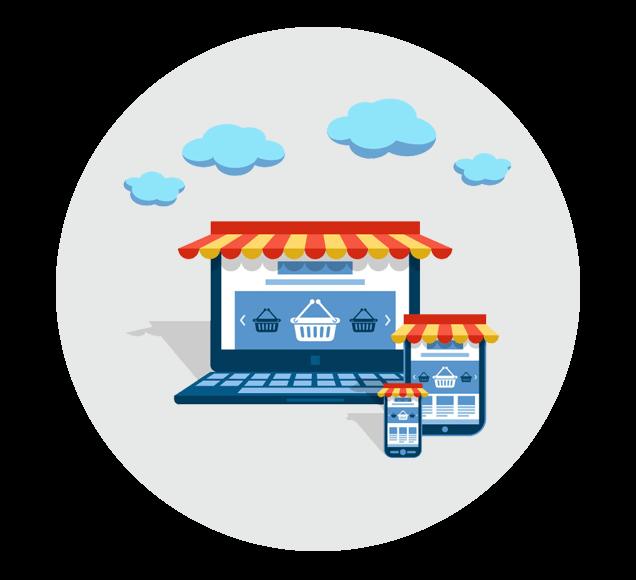 Online Ecommerce Store Illustration