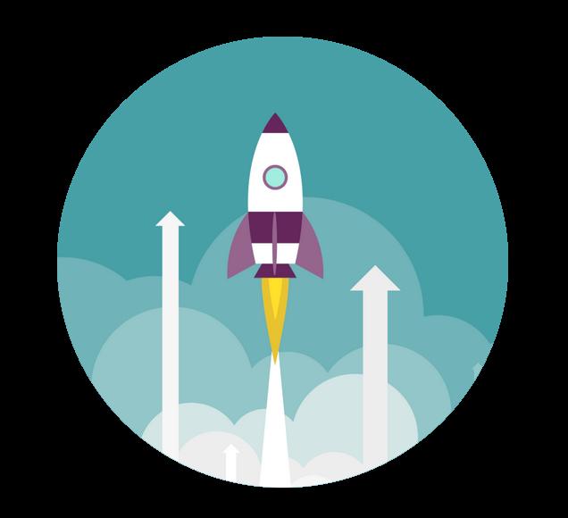 Rocket Launching Illustration
