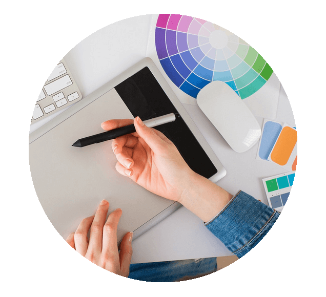 Artist Using Graphics Tablet