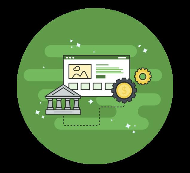 Making Money Online Business Illustration