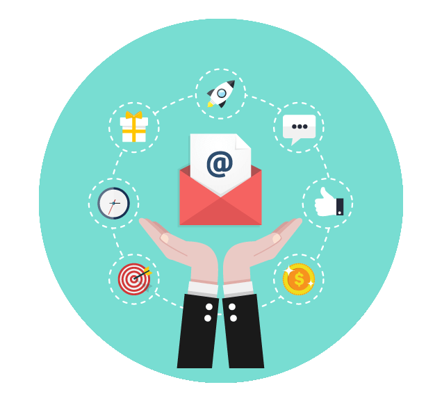 Sending Emails to New Customers Worldwide - Illustration