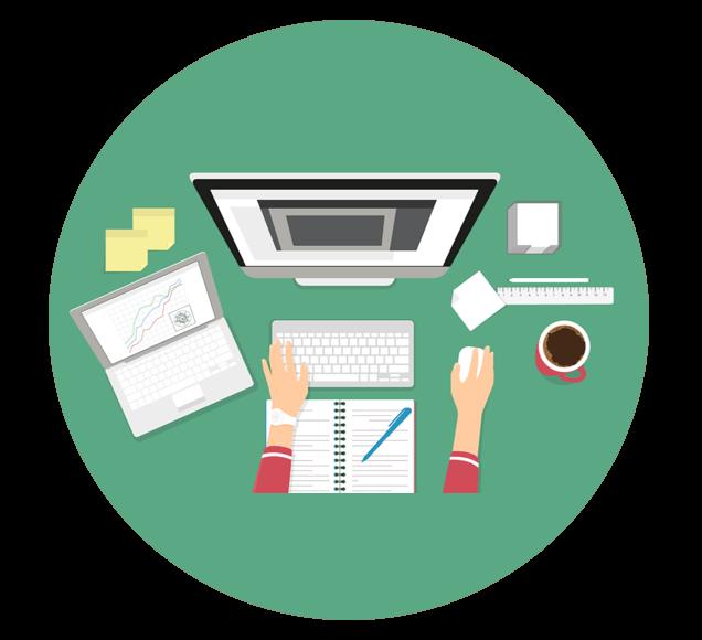 Creating Powerpoint Online Presentation Illustration