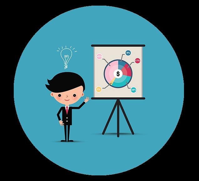 Presentation Using Microsoft Powerpoint Illustration