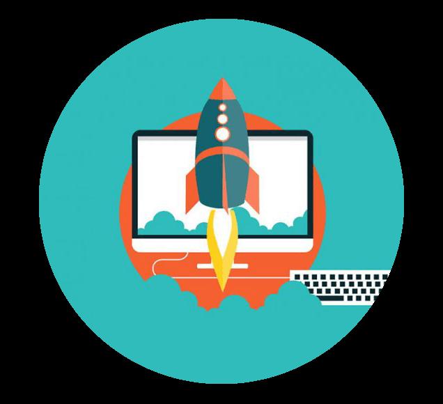 Product Launch Rocket Illustration