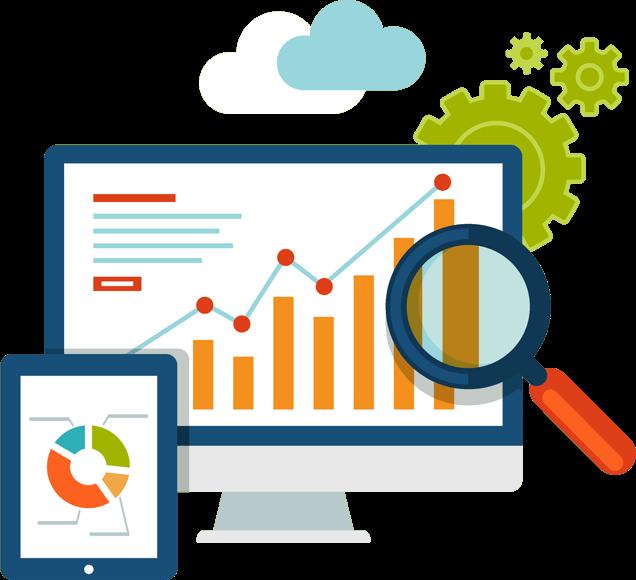 Website Data Analytics Illustration