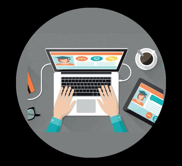 Online Membership Site Illustration