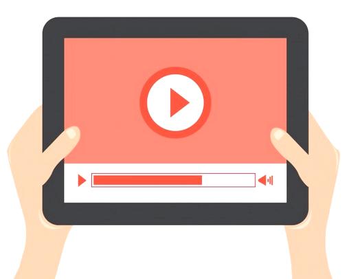 Digital Video on Tablet Device Illustration