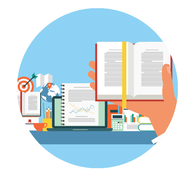 Publishing Books Online Illustration