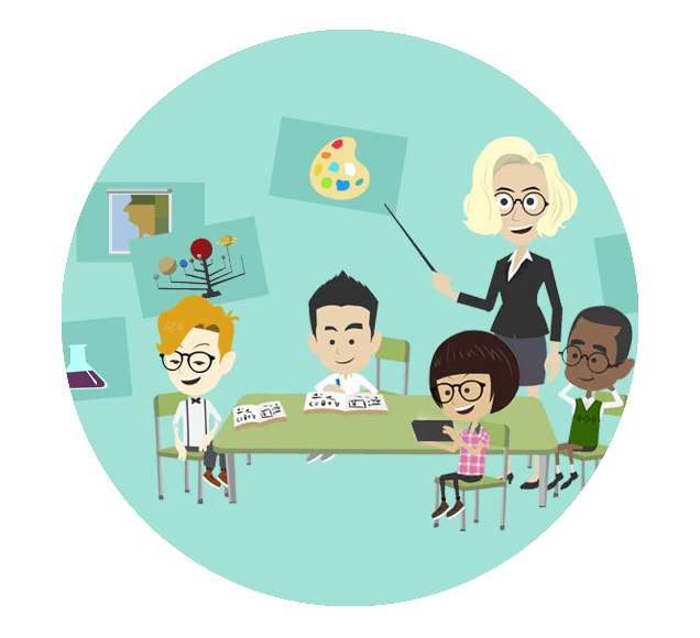 Classroom Training With Teacher Illustration