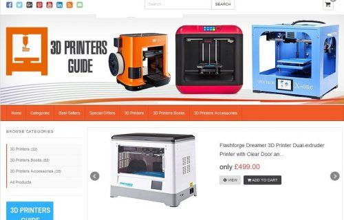 3d Printers Guide Amazon Affiliate Website