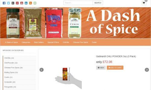 Dash of Spice Amazon Affiliate Website