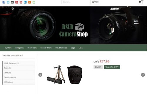 DSLR Camera Shop Amazon Affiliate Website