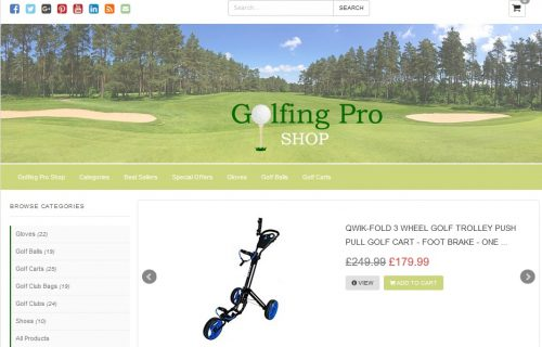 Golfing Pro Shop Amazon Affiliate Website