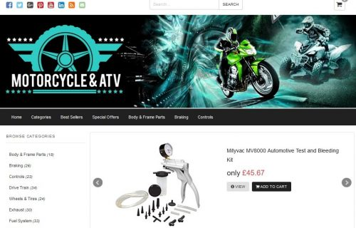 Motorcycle and ATV Amazon Affiliate Website