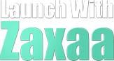 Launch With Zaxaa Logo